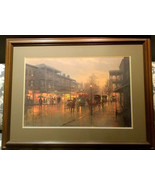 """Beautiful G Harvey Limited Edition Signed Print """"Royal Street"""" Matted Fr... - $275.00"""