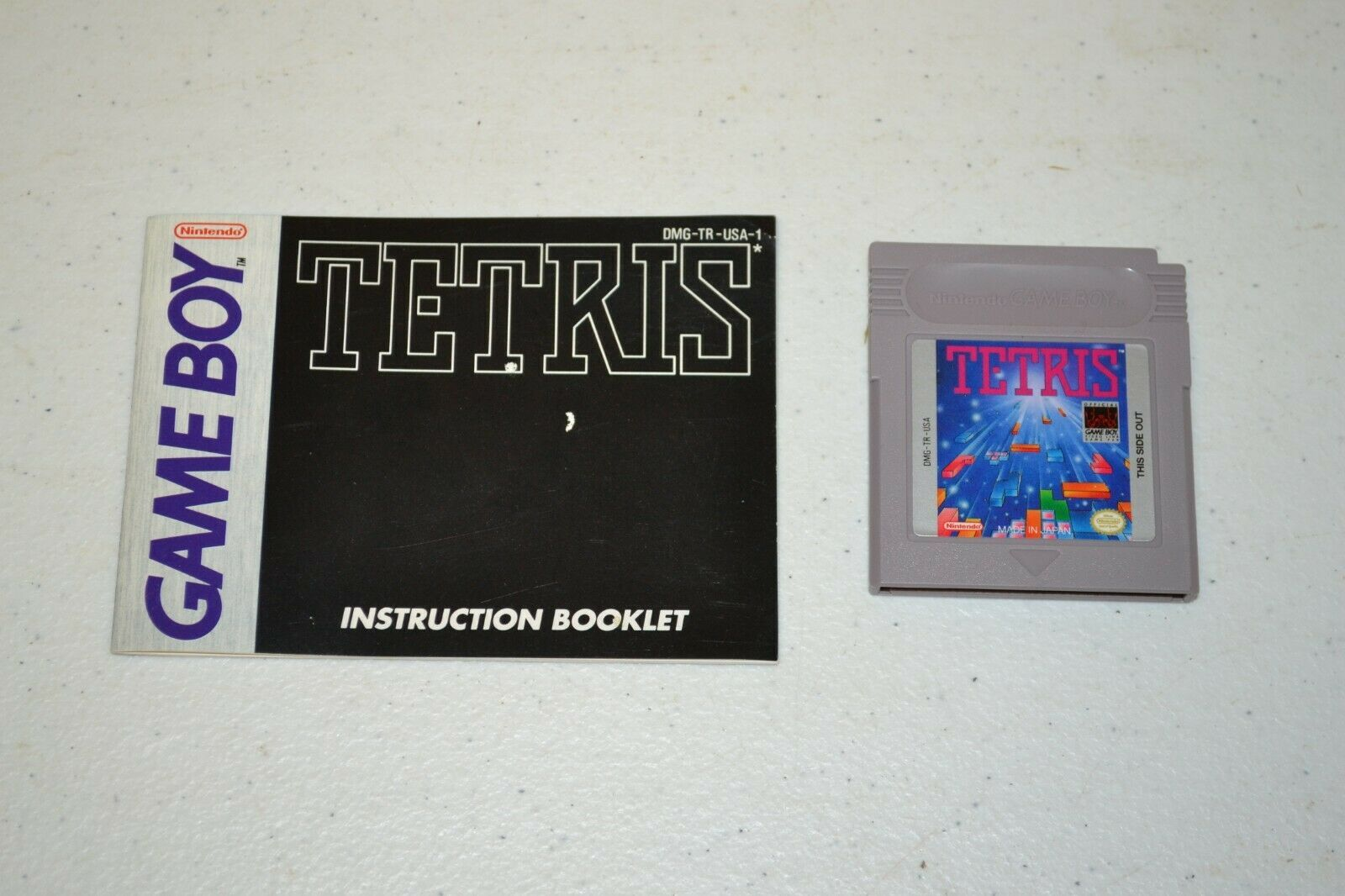 Tetris (Nintendo Game Boy, 1989) TESTED GB NGB w Manual