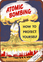 1950 Protect Yourself From Atomic Bombing vinta... - $14.72