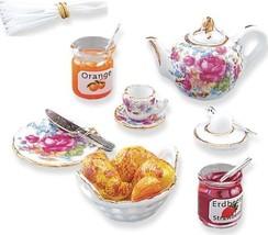 DOLLHOUSE Continental Breakfast Set 1.448/8 Reutter Dresden Rose Miniature - $43.71