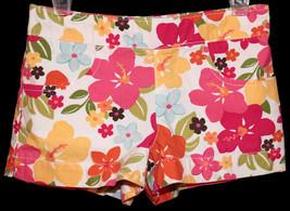 Gymboree Girls Floral Shorts size 4T 4 T Aloha Sunshine Flower Print Cot... - $6.99