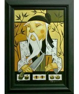 Tim Rogerson-King of Raw in Roll-Framed LE Hand Embellished Giclee/Canva... - $299.25