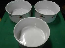 "Dansk Dinnerware ""Rosebud""..Set Of 2 Quiche Souffle Baking Dishes & 1 Free - $21.37"
