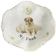 Rare Antique Rosenthal Versailles Porcelain Dog Food Bowl - $96.58