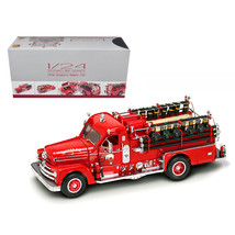 1958 Seagrave 750 Fire Engine Truck Red with Accessories 1/24 Diecast Mo... - $140.31