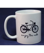 "Coffee Mug Cup Bicycle  ""Enjoy the Ride"" Orca Coatings - $18.99"