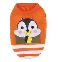 (orange size S)Cute Cartoon Pet Dog Clothes Vest Cotton Pet T shirt Vest... - $16.00