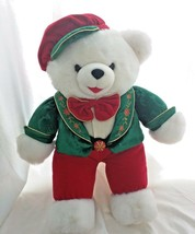 BIG VINTAGE Christmas Snowflake Plush Boy Teddy Bear 2001 limited Editio... - $15.83