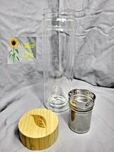 Tease Glass 450 Ml Tumbler w/Bamboo Lid, Stainless Steel Tea Strainer, S... - $21.00