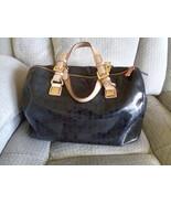 Michael Kors Grayson Satchel Black Logo Handbag Purse - $49.99