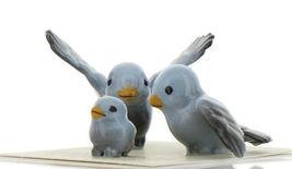 Hagen Renaker Miniature Bluebird Family Ceramic Figurine Set of 3 image 3