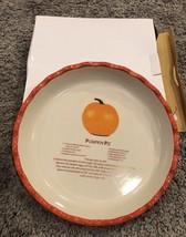 Pumpkin Pie Porcelain Dish Orange New Gift Recipe Bakeware Kitchen Decor - ₨1,497.94 INR