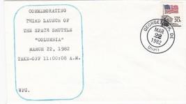 COMMEMORATING THIRD LAUNCH OF COLUMBIA GEORGETOWN, DE 3/22/1982 LTD. EDI... - $1.78