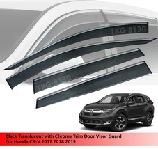 Visor Rain Guard Weather Shield Chrome Trim For Honda CR-V CRV 2017 2018 2019 - $83.53