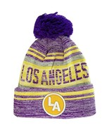 Los Angeles LA Patch Fade Out Cuffed Knit Winter Pom Beanie Hat (Purple/... - $11.95