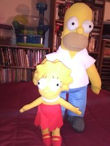 The Simpsons 22 inch Homer Simpson plush and 12-inch Lisa - $24.95