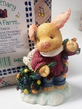 """Enesco Mary Mary Had A Farm #273414 1997 """"Knots About Christmas!"""" Pig Tangled in - $35.99"""