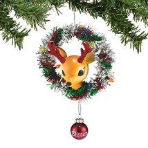 Department 56 Reindeer Tales Blitzen Wreath Ornament