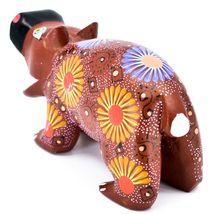Handmade Oaxacan Alebrijes Copal Wood Carving Folk Art Hippopotamus Hippo Figure image 3