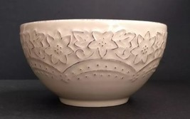 Pier 1 LACEY CREAM Soup / Cereal Bowl  - $18.42