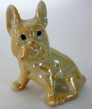 Vintage Japan Lusterware Miniature French Bulldog Figurine - $8.00