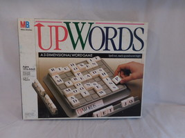 UPWORDS 3 Dimensional Board Game by Milton Bradley Mint Condition Comple... - $21.02