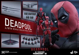 HOT TOYS 1/6 DEADPOOL MMS347 WADE WILSON RYAN REYNOLDS MASTERPIECE ACTIO... - $612.98