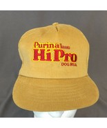 Purina Brand Hi Pro Dog Food Meal SnapbackTrucker Hat Brown Corduroy Cap... - $23.17