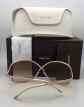 New TOM FORD Sunglasses ROSIE TF 144 48G 62-13 Brown Leather Gold w/ Bro... - $399.98