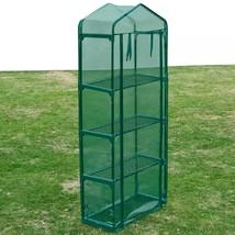 vidaXL Greenhouse w/ 4 Shelves Portable Mini Outdoor Garden Flower Plant... - $30.99