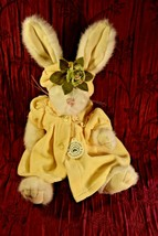 Boyd's Bears White Bunny Rabbit w/Bearwear Yellow Dress, Bloomers, Hat~HANDMADE - $18.00