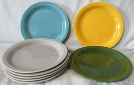Homer Laughlin Fiesta Colors Mothers Oats Carnival Bread Plates Set of 8 - $48.40
