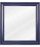 """22"""" x 24"""" beveled glass mirror with Blue finish - $208.81"""