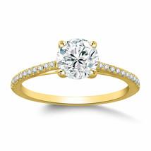 1 Ct Brilliant Round Simulated Diamond Solitaire Engagement Ring 10k Yel... - $256.40
