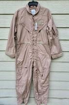 Nwt Genuine Us Air Force Tan Nomex Fire Resistant Flight Suit CWU-27/P - 44S. - $123.75
