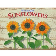 Sunflowers Metal Sign - $32.91