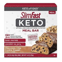 SlimFast Keto Meal Replacement Bar - Chocolate Chip Cookie Dough - 5 Count - Pan - $5.93