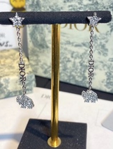 AUTH CHRISTIAN DIOR 2020 WHITE CRYSTAL DIORABLE ELEPHANT SILVER DANGLE EARRINGS image 6