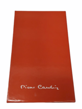 Vintage New in Box Dust Bag Pierre Cardin Red Leather Wallet Clutch Bag image 6