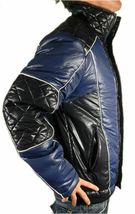 Ed Hardy By Christian Audigier Men's Premium Puffer Hot Nylon Jacket Blue image 3
