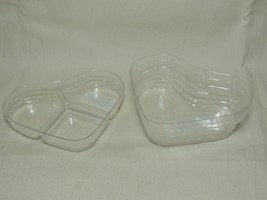 Longaberger  2000 Little Love Heart 2 Piece Plastic Protector Set Only New - $14.80