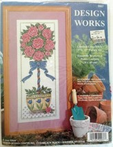Design Works Counted Cross Stitch Kit Rose Topiary #9937 New - $18.76
