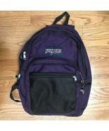 VTG Vintage Purple Jansport Mesh Front Backpack Knapsack Rucksack  - $99.99