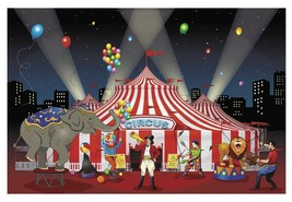 Carnival Backdrop Banner (9 ft. x 6 ft.) Plastic  - $19.94