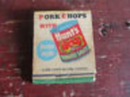 Vecchio Hunt's Bustina Fiammiferi con Ricetta, Vecchio - $21.10