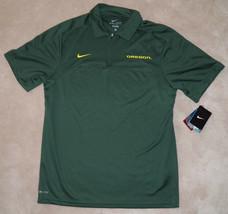 NWT Nike Dri-Fit University of Oregon Polo Shirt Ducks Mens Small Green ... - $29.65