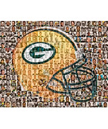Green Bay Packers Mosaic Print Art Designed Using Over 100 of the Greate... - $42.00+