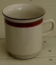 Nice Brown Trim Stoneware Teacup, VERY GOOD CONDITION - $6.92