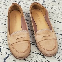 Vtg Timberland Ortholite Ladies Leather Flats Shoes Work Dress Casual Tan size 8 - $48.37