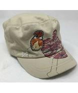 Flintstones Cartoon Pebbles Patch Khaki Tan Military Style Baseball Cap Hat - $8.81